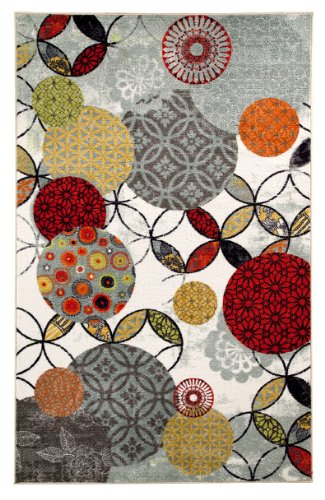 Mohawk Home Strata Give And Take Kaleidoscope Abstract Medallion Printed Area Rug, 5'x8', Multicolor - Rugs Kaleidoscope Collection