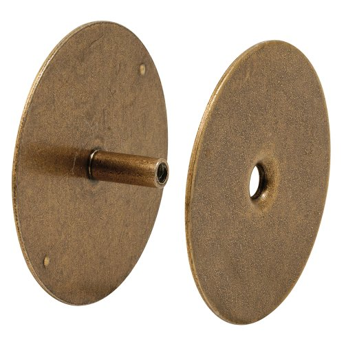 Defender Security U 10888 Door Hole Cover Plate, 2-5/8 inch Diameter,  Antique Brass - Antique Door Plates: Amazon.com