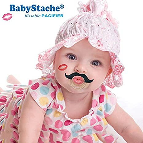 Amazon.com: babystache Kissable Baby Pacifier, FDA Listed ...
