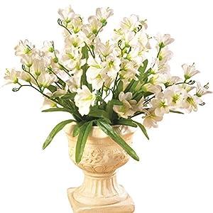 Collections Etc Tree Orchid Artificial Flower Arrangement Bouquet Bush - Set of 3, Ivory 17