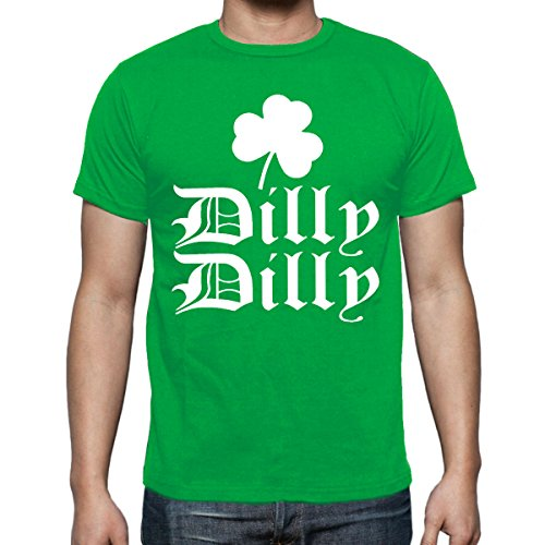 fresh tees Dilly Dilly ST. Patrick's Day Shirt Irish Funny Drinking Shirt Dilly Dilly Shirt (Large, Kelly Green)