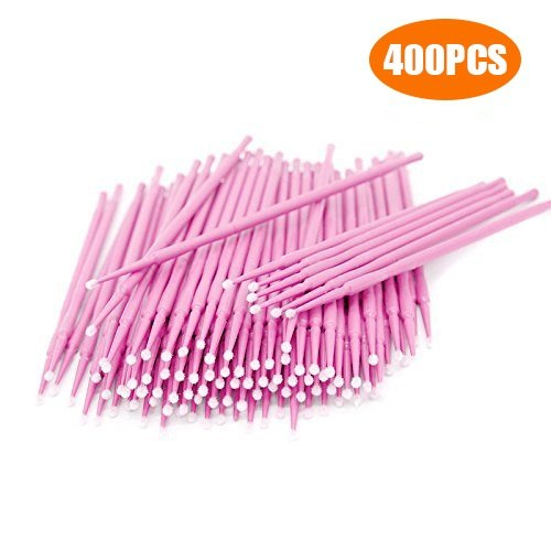 400 PCS Disposable Micro Applicators Brush for Makeup and Personal Care (Head Diameter: 2.0mm)- 4 X 100 PCS