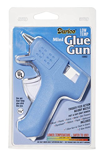Darice 10882 LowTemp Mini Glue Gun with Trigger