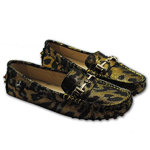 Minitoo - alpargatas mujer Gold/Brown Snake-print