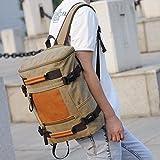 Casual canvas shoulder bag men's backpacks school bags shoulder bag handbag multifunction bag