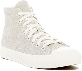 PRO-Keds Mens Royal Hi Top Suede Sneaker Birch (Off White)