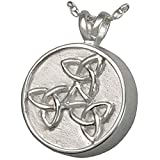 Memorial Gallery MG-3139s Trinity Celtic Sterling Silver Cremation Pet Jewelry