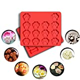 TOMKAS Silicone Baking Molds Ice Cube Trays Cake Chocolate Candy Pans Dog Treats Food Grade Paws&Bones Combo Pack (2 MOLD)