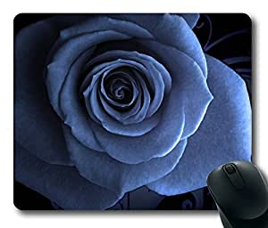 Creative Blue Rose Masterpiece Limited Design Oblong Mouse Pad by Cases & Mousepads by runtopwell