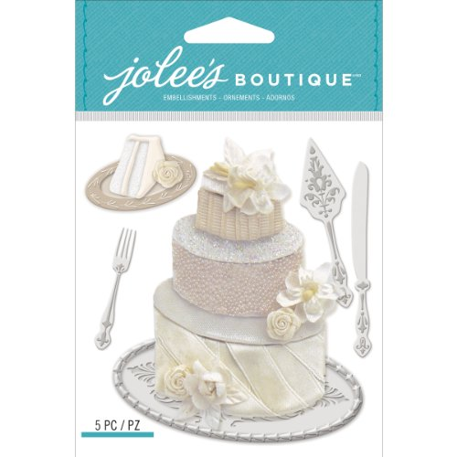 Jolee's Boutique Dimensional Stickers, Wedding Cake