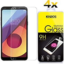 [4 Pack] Khaos For LG Q6 Plus Q6+ HD Clear Tempered Glass Screen Protector with Lifetime Replacement Warranty