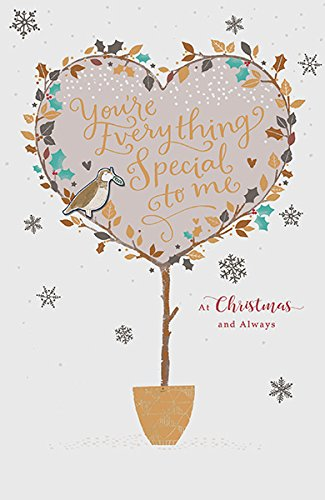 Topiary Heart Plant Everything Someone Special Sentiment Christmas Card New (Card Topiary)