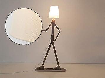 Lámpara de Pie de Tela, Tipo Humano Dormitorio Lámpara de ...