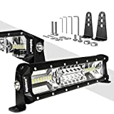 LED Light Bar Rigidhorse Triple Row 12 Inch 108W LED Work Light Spot Flood Combo LED Lights LED Bar Driving Lights Jeep Off Road Lights SUV Lighting With Adjustable Mounting Bracket