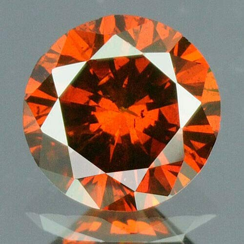 (0.17 cts. CERTIFIED Round SI3 Vivid Blood Red Color Loose Natural Diamond 10437)