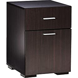 Comfort Products Modern 2 Drawer Lateral File Cabinet, Espresso