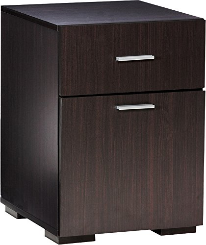 Comfort Products 50-2401ES Modern 2 Drawer Lateral File Cabinet, Espresso (1 Drawer Lateral File Cabinet)