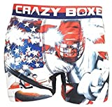 Crazy Boxer Merica Collection Hockey Underwear Boxer Briefs (Medium) (X Large)