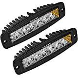 Flush Mount Led Lights,Eyourlife 18W Led Flush Mount Flood Led Light Pods Jeep Light Bar Mount Driving Fog Work Light for Off-Road SUV Pickup Boat 4x4 Jeep 2PCS