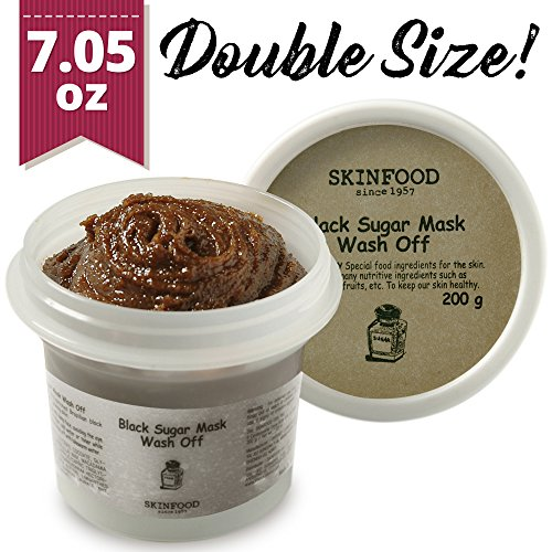 - Skinfood Black Sugar Mask Wash Off Exfoliator, 7.05 Ounce