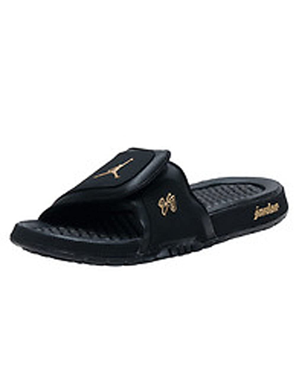 eaeb22034bef Jordan Hydro 2 Premier Men s Slide Style  456524-042 (Black Metallic Gold)  Size 7  Amazon.co.uk  Shoes   Bags
