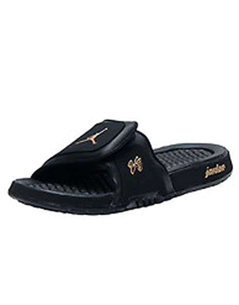 a8cb8a407239f4 Jordan Hydro 2 Premier Men s Slide Style  456524-042 (Black Metallic Gold)  Size 7  Amazon.ca  Shoes   Handbags