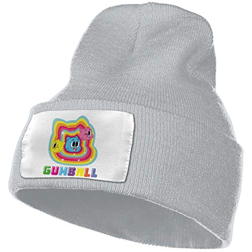 SmallHan Mens & Womens The Amazing World Of Gumball Skull Beanie Hats Winter Knitted Caps Soft Warm Ski Hat Gray -