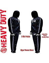 MMA Sauna Sweat Suit Track Weight Loss Slimming Fitness Gym Exercise Training Added Hood White Anti-Rip