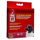 Dogit Nylon Dog Muzzle, Black, X-Small/3.9-Inch