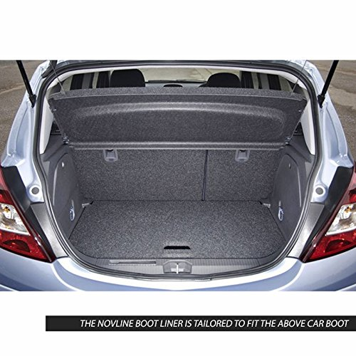 Novline MAT045 Custom Tailored Fit Black Rubber Boot Liner Tray Mat