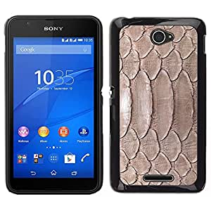 Impact Case Cover with Art Pattern Designs FOR Sony Xperia E4 Nature Reptile Skin Snake Brown Wallpaper Betty shop