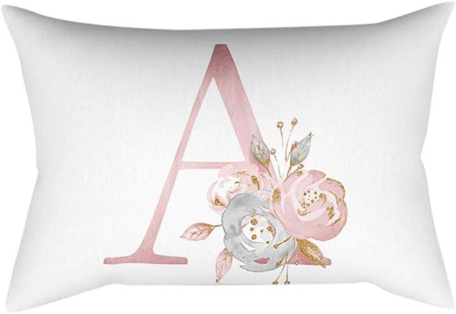 Fiori Bianchi E Gialli 11 Lettere.Gokomo Lettere In Polvere Oro Rosa Cuscino Decorativo Per