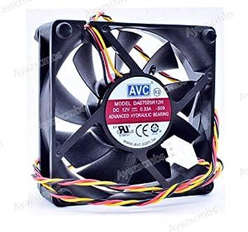Ayazscmbs Compatible para DA07020R12H 7cm 7020 70x70x20mm 12V 0.33 ...