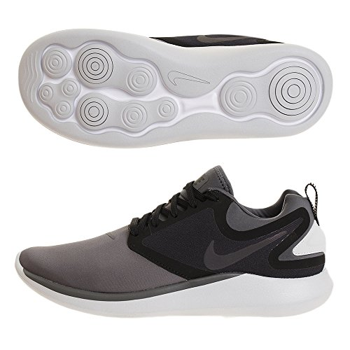 Nike Mens Lunarsolo Scarpe Da Corsa Grigio / Nero / Bianco
