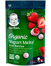 Gerber Organic Yogurt Melts Fruit Snacks, Banana & Strawberry, 1 Ounce (Pack of 7)