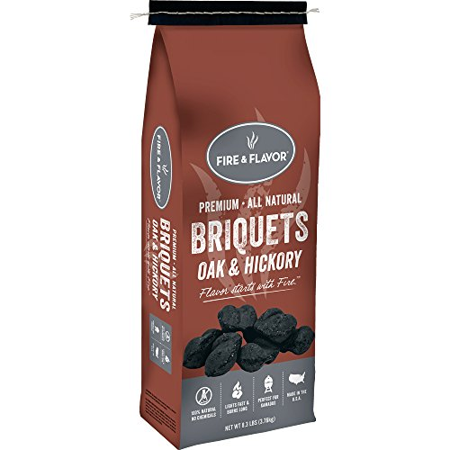 Fire & Flavor Briquets Oak & Hickory Charcoal Starters by Fire & Flavor