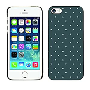 X-ray Impreso colorido protector duro espalda Funda piel de Shell para Apple iPhone 5 / iPhone 5S - Wallpaper Green Love Pastel