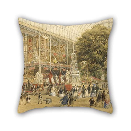 20 X 20 Inches / 50 By 50 Cm Oil Painting Thomas Abel Prior - Queen Victoria Opening The 1851 Universal Exhibition, At The Crystal Palace In London Pillow Shams Two Sides Is Fit For Home Theater K