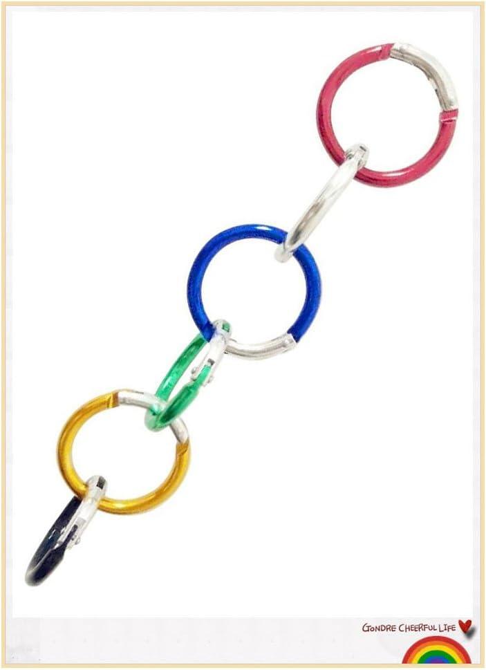 Hamosky Keychain Heart Shaped//Round Shape Aluminum Alloy Locking Snaphook Hook Holder