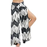 Clearance! Women's Cropped Palazzo Pants Wide Leg High Split Flowy Casual Loose Lounge Trousers