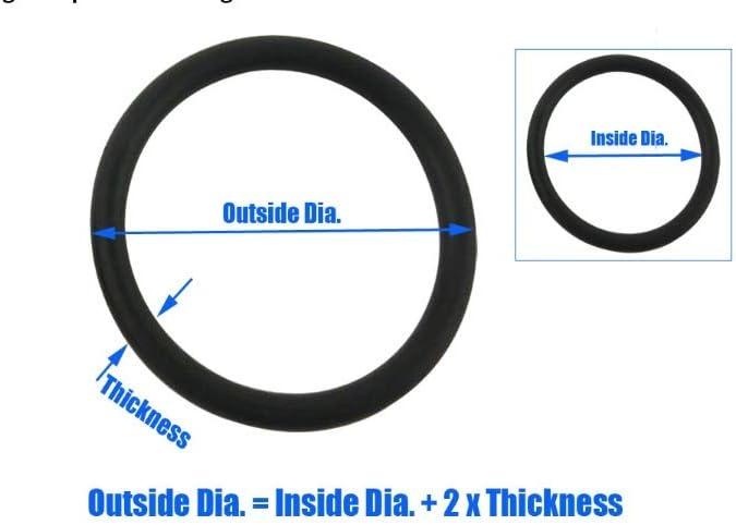 Taglia : 3.2x1.2x1mm NJ-Spring 100pcs NBR O Ring Guarnizioni Guarnizione Spessore 1mm Olio Resistenza O-Ring di Tenuta 70SHA Gomma Nera O Tipo Anelli di Tenuta Grommet