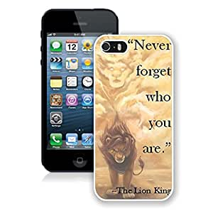 Beautiful Custom Designed Cover Case For iPhone 5S With Lion King iPhone 5s White Phone Case 251