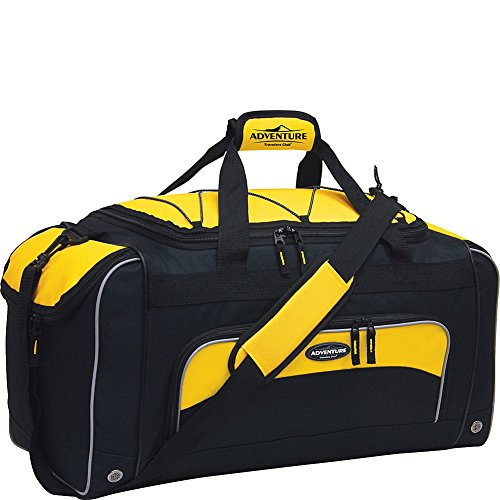 Travelers Club 24 Inch Duffel, Yellow with Black