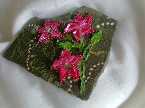 Handmade Pink Flower Garden Art