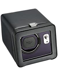 WOLF 452503 Windsor Single Watch Winder with Cover, Black