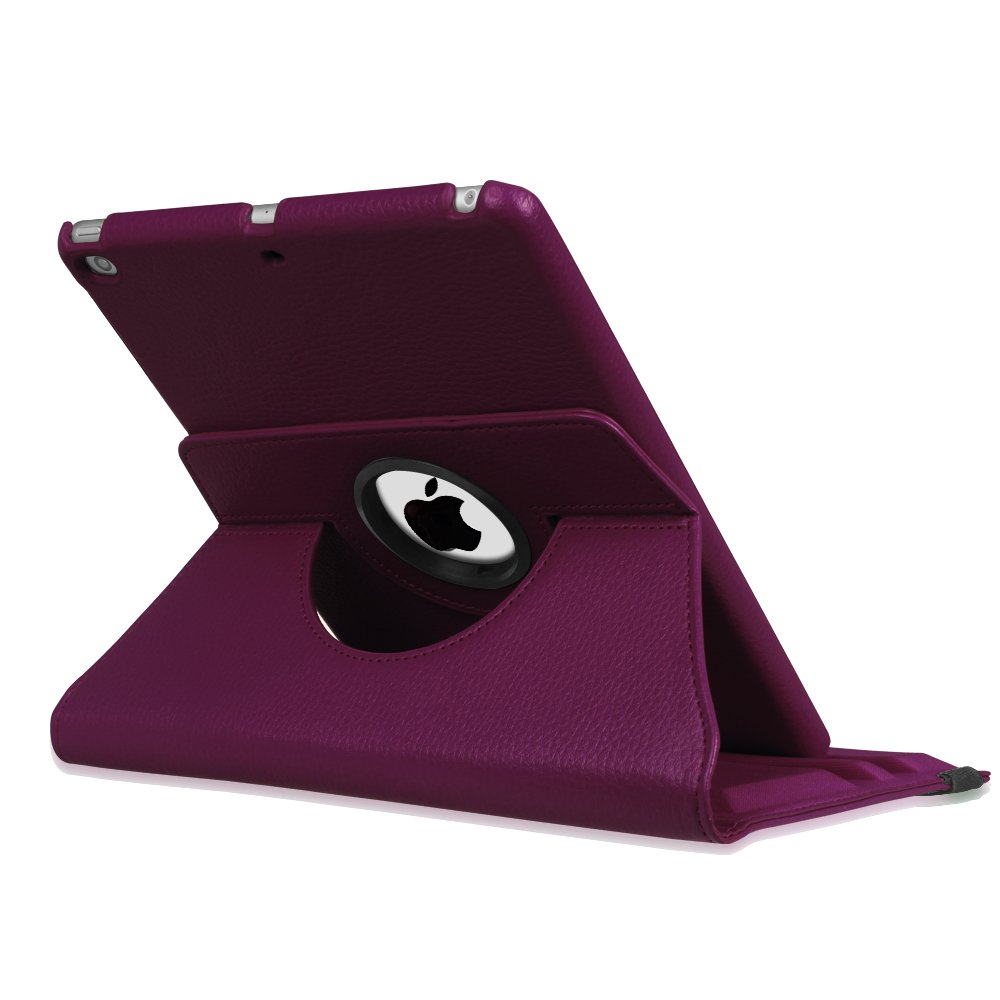 Fintie iPad 9.7 inch 2018 2017 / iPad Air Case - 360 Degree Rotating Stand Protective Cover with Auto Sleep Wake for Apple iPad 9.7 inch (6th Gen, 5th Gen) / iPad Air 2013 Model, Purple by Fintie (Image #9)