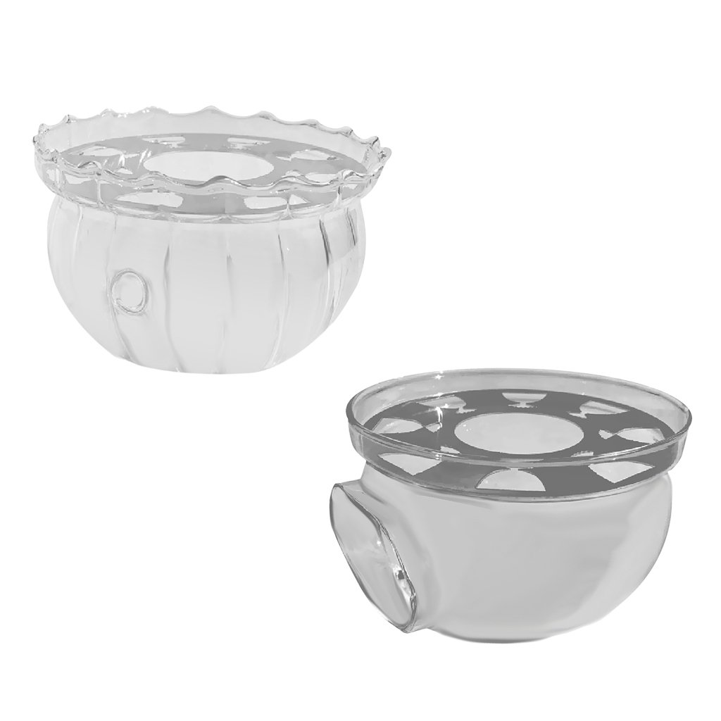 Dovewill 2 Pieces Glass Teapot Warmer Tea Coffee Milk Heating Base Tea Light Candle Holder for Home Office