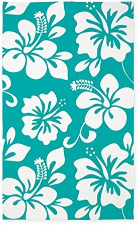 CafePress Turquoise Hawaiian Hibiscus 3'X5' Decorative Area Rug