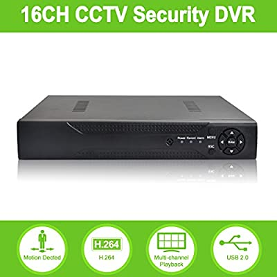 ABOWONE 16 Channels DVR Recorder H.264 CCTV Security Surveillance System Digital Video Recorder by abowone