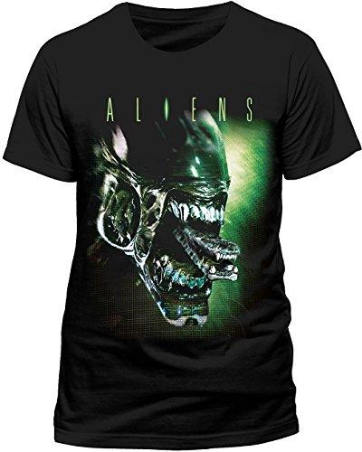 XL Black Unisex Alien T-shirt